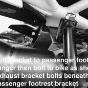 Passenger footrest bracket