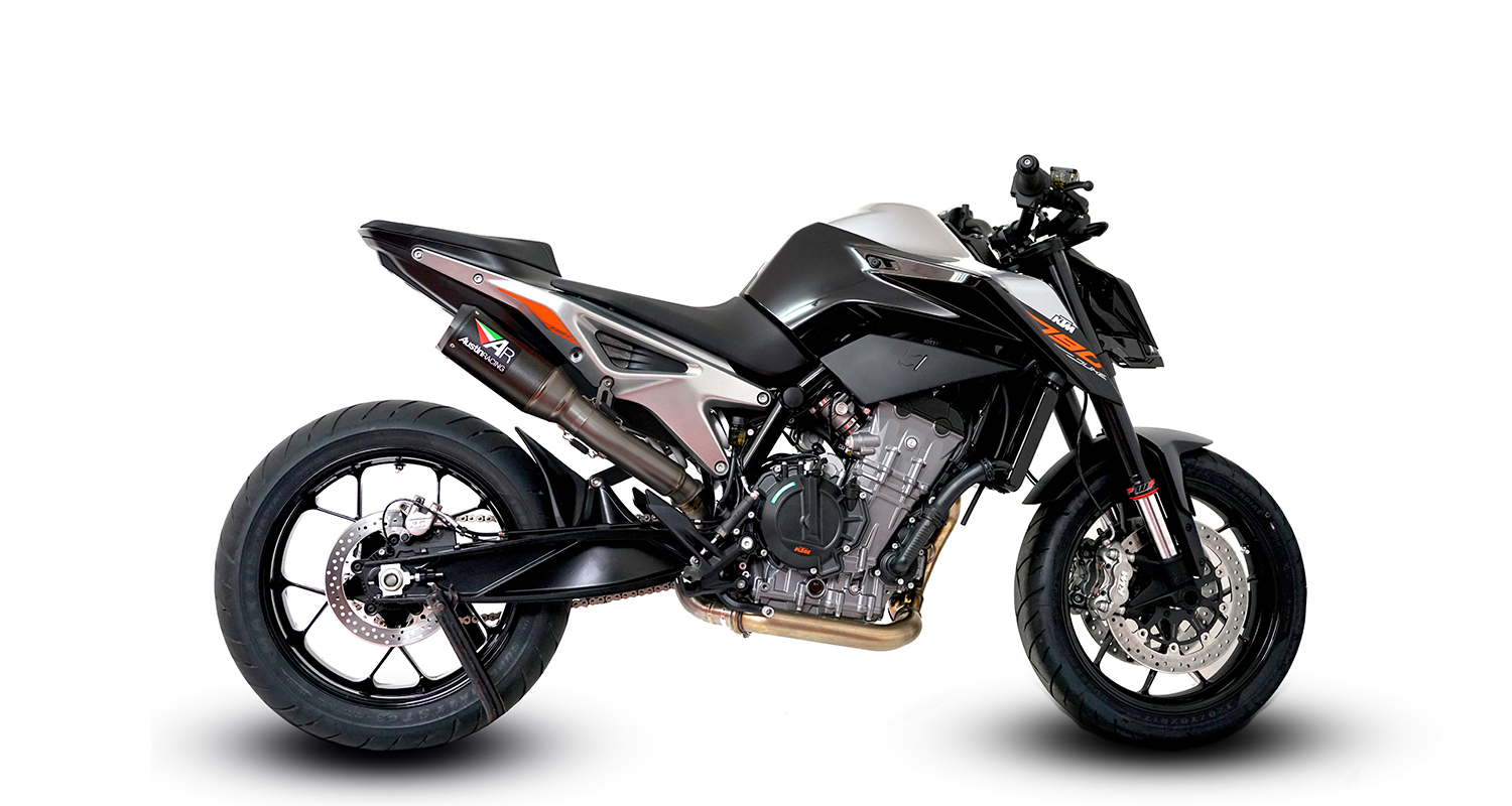 ktm duke 790 2018 slip on decat rs22 duel systems austin racing exhausts australia. Black Bedroom Furniture Sets. Home Design Ideas
